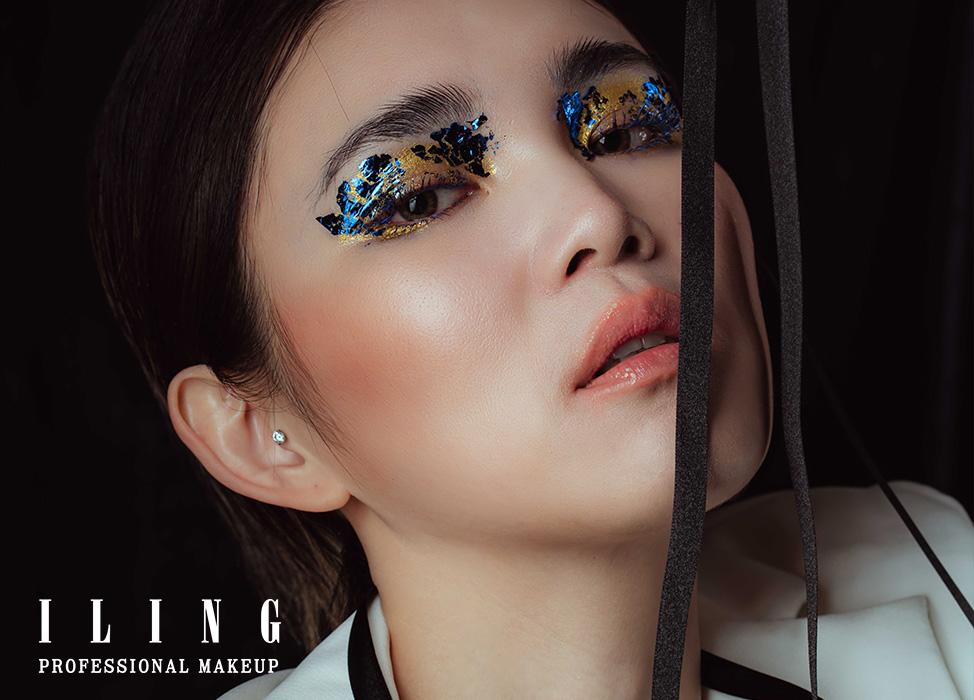 【金屬變色龍】狂野拼貼/異材質眼妝