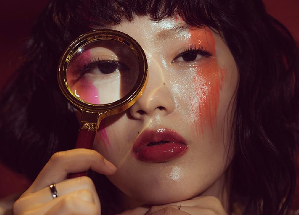 【南法油彩】油彩橘紅色暈染/玻璃感亮面唇妝