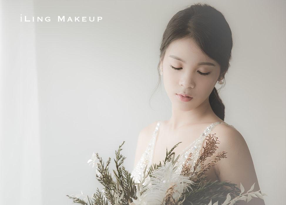 新秘作品-【唯心唯你】清新自然妝/韓系低馬尾