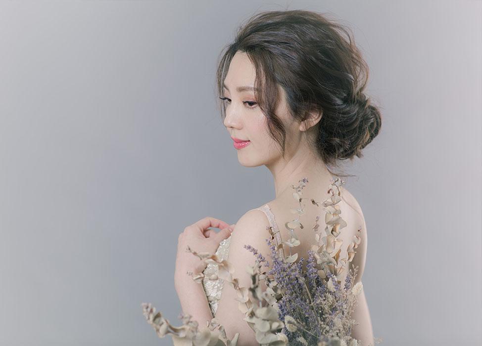 新秘作品-【戀之旖旎】優雅低盤髮