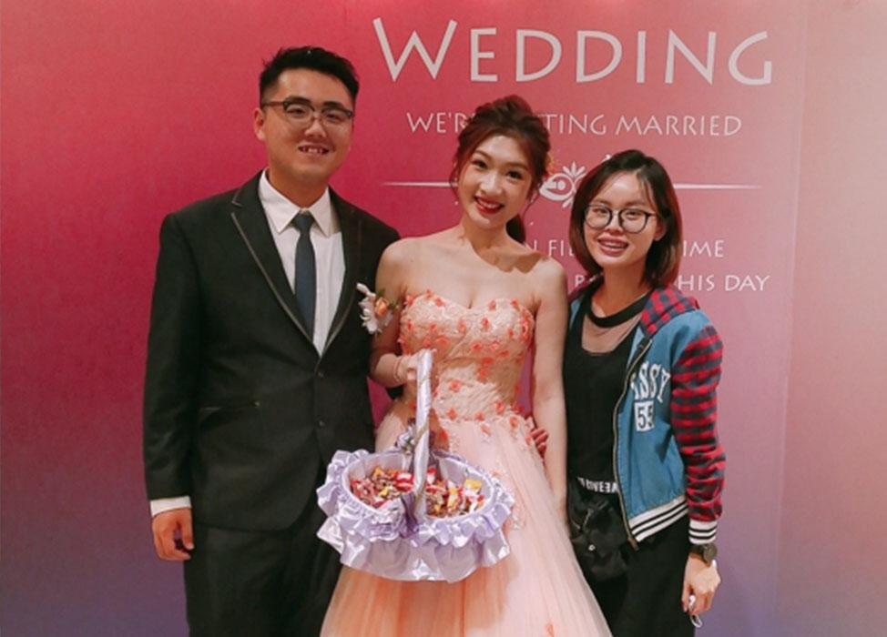 感謝I-ling林雅雯(peggy)讓我當個美美的新娘