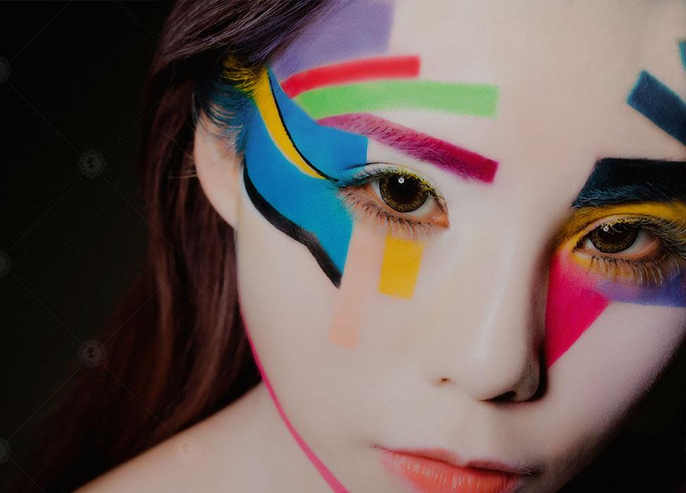 【玩轉色】強烈的色彩/樂高積木/藝術妝