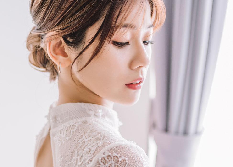 新秘作品-【玉軟花柔】典雅盤髮/精緻眼妝/日系抽絲作品