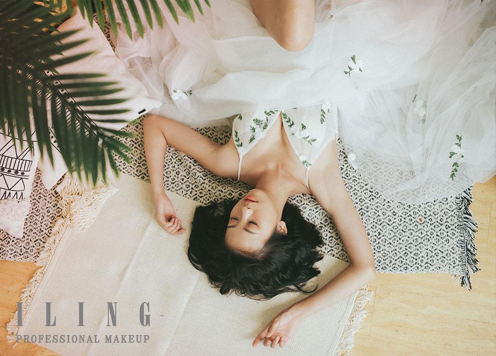 新秘作品-【雲朵的嫁紗】俏麗短髮輕婚紗