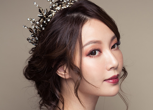 【魔鏡,魔鏡】微醺魅惑眼妝/微醺惑力/鬆垂墜盤髮