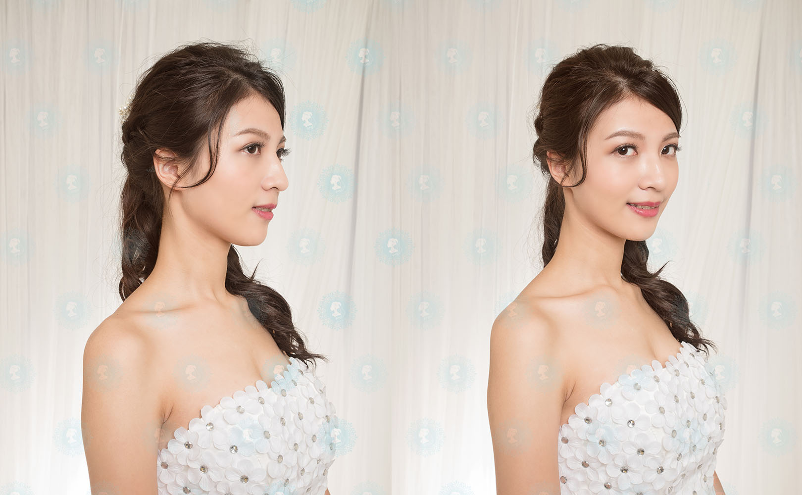 iling形象彩妝造型-新娘秘書作品-細緻經典白紗-美妝牆1