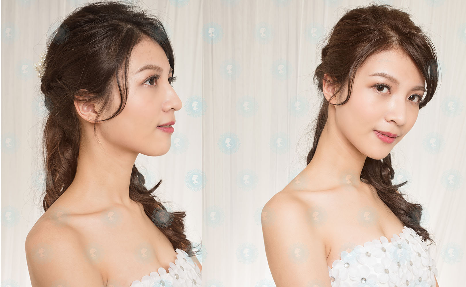 iling形象彩妝造型-新娘秘書作品-細緻經典白紗-美妝牆3