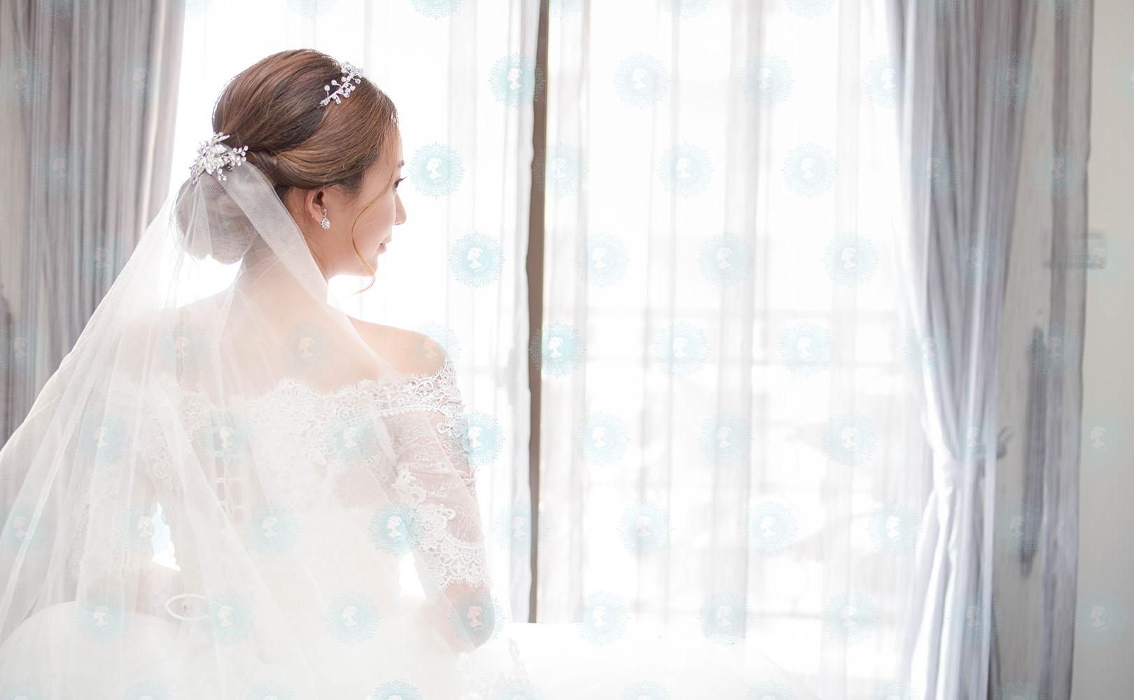 新娘秘書造型師作品-白色夢幻/氣質名媛作品照片圖1