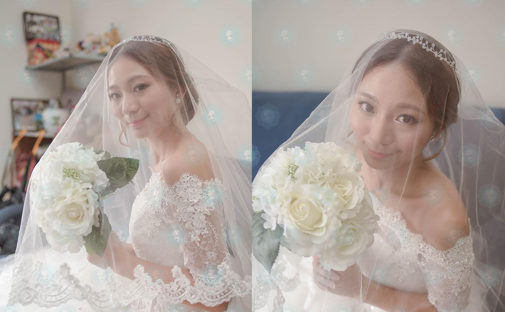 新娘秘書造型師作品-白色夢幻/氣質名媛作品照片圖3