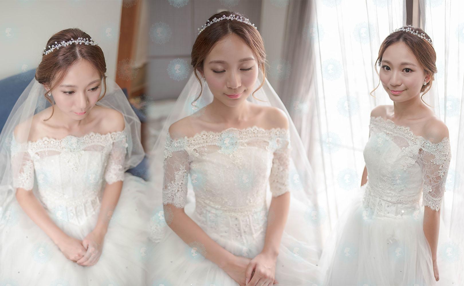 新娘秘書造型師作品-白色夢幻/氣質名媛作品照片圖5