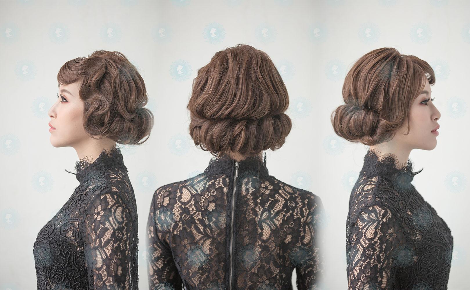 新娘秘書造型師作品-甜橘復古女星作品照片圖7