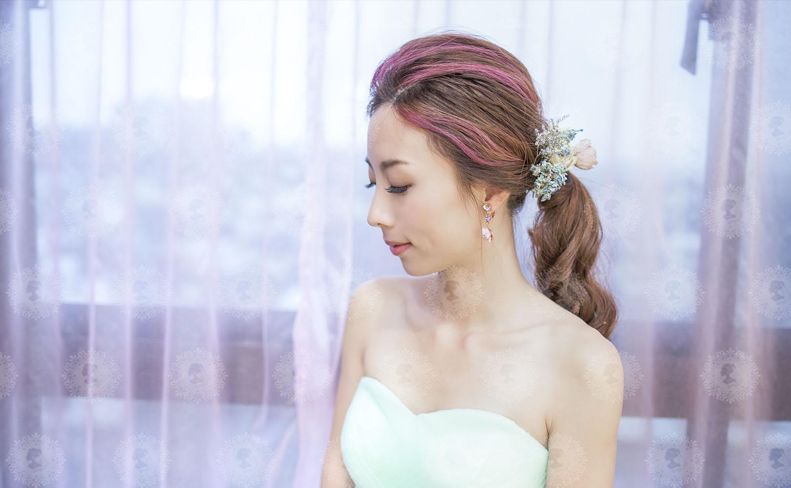 新娘秘書造型師作品-韓系低馬尾/綠野仙蹤作品照片圖3