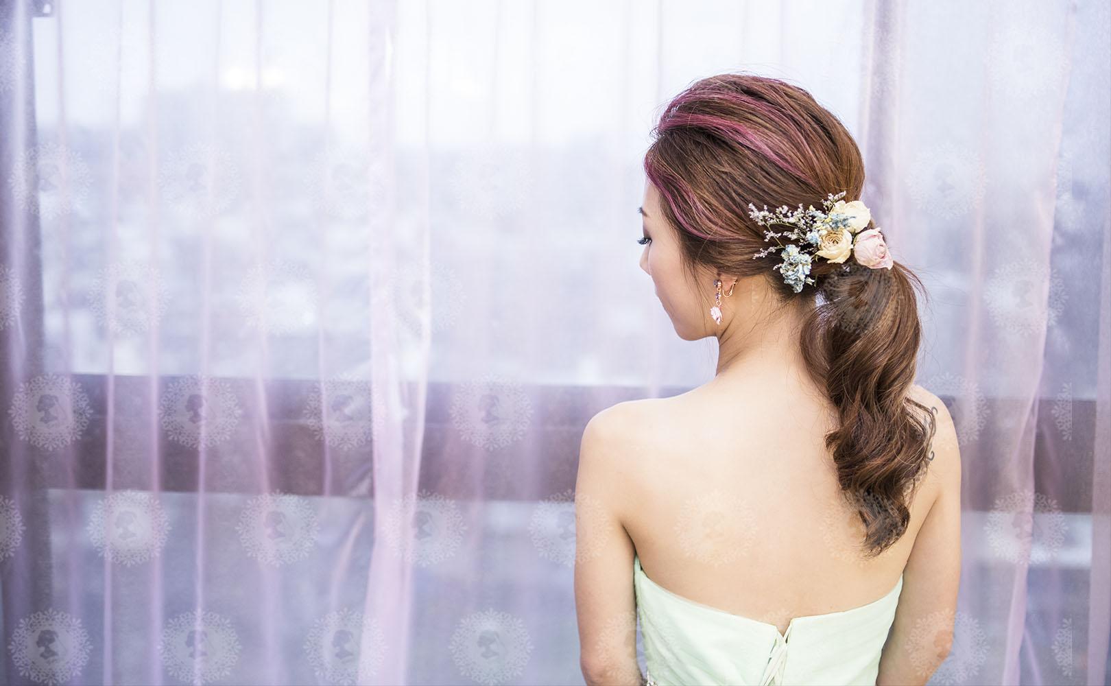 新娘秘書造型師作品-韓系低馬尾/綠野仙蹤作品照片圖4